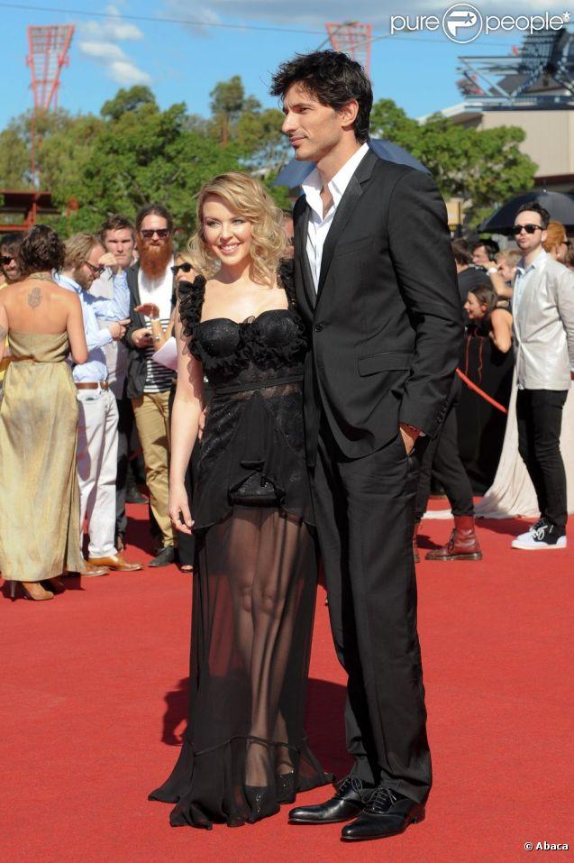 Kylie Minogue et Andres Velencoso à Sydney, le 27 septembre 2011.