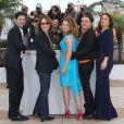 Avec le réalisateur Xavier Dolan, 23 ans, Melvil Poupaud, Nathalie Baye, Suzanne Clément et Monia Chokri ont présenté  Laurence Anyways  au Festival de Cannes le 19 mai 2012.