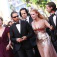Mia Wasikowska, Tom Hardy, Jessica Chastain et Shia Labeouf sur le tapis rouge du Palais des Festivals. Cannes, le 19 mai 2012.