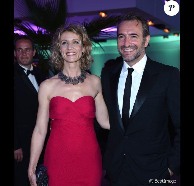 Jean Dujardin et Alexandra Lamy au dîner du Festival de Cannes, le 20 mai 2012.