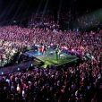 Johnny Hallyday en concert à Montpellier, le 14 mai 2012.
