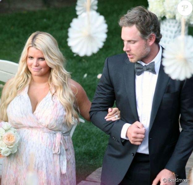 Jessica Simpson et Eric Johnson au mariage d'un couple d'amis, à Palm Springs, le 25 mars 2012.