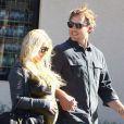 Jessica Simpson et Eric Johnson à Los Angeles, le 28 janvier 2012.