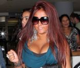 Snooki à l'aéroport de Los Angeles en août 2010.