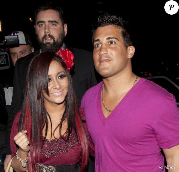 Snooki et son petit ami Jionni LaValle à West Hollywood le 7 janvier 2012.