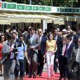 Felipe et Letizia d'Espagne inauguraient le 25 mai 2012 le 71e Salon du livre de Madrid.