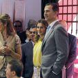 Felipe et Letizia d'Espagne inauguraient le 25 mai 2012 le 71e Salon du livre de Madrid, en présence également de l'infante Elena.