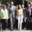 Felipe et Letizia d'Espagne ont inauguré le 25 mai 2012 le 71e Salon du livre de Madrid.