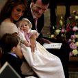 Baptême à Mogeltonder le 20 mai 2012 de la princesse Athena de Danemark, née le 24 janvier, deuxième enfant du prince Joachim et de la princesse Marie.