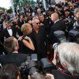 Sting et Trudie Styler provoquent la frénésie des photographes lors de la montée des marches pour le film Mud au Festival de Cannes le 26 mai 2012