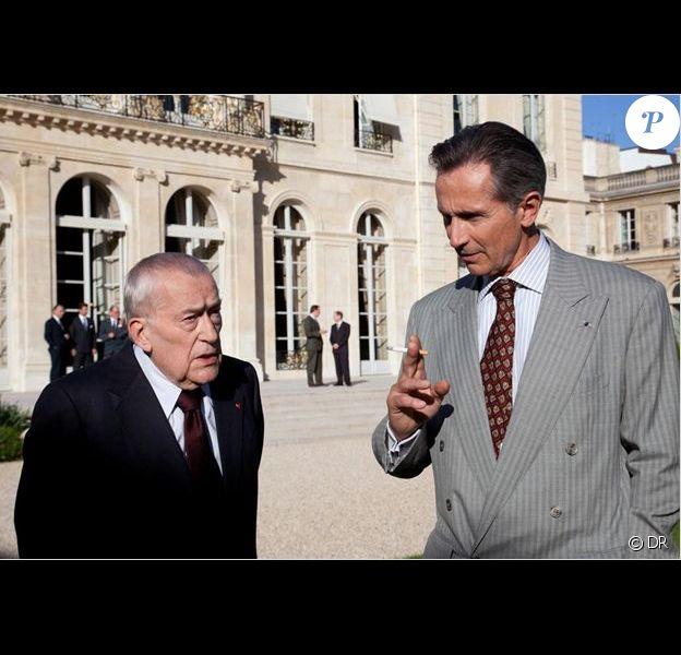 Michel Duchaussoy et Thierry Lhermitte dans L'Affaire Gordji, histoire d'une cohabitation. Téléfilm diffusé le 28 mai 2012.