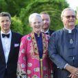 La famille royale de Danemark à l'orangerie du palais de Fredensborg le 30 mai 2012 pour un dîner de bienfaisance à l'occasion des 40 ans de la WWF Danemark, dont le prince consort Henrik de Danemark assume la présidence.