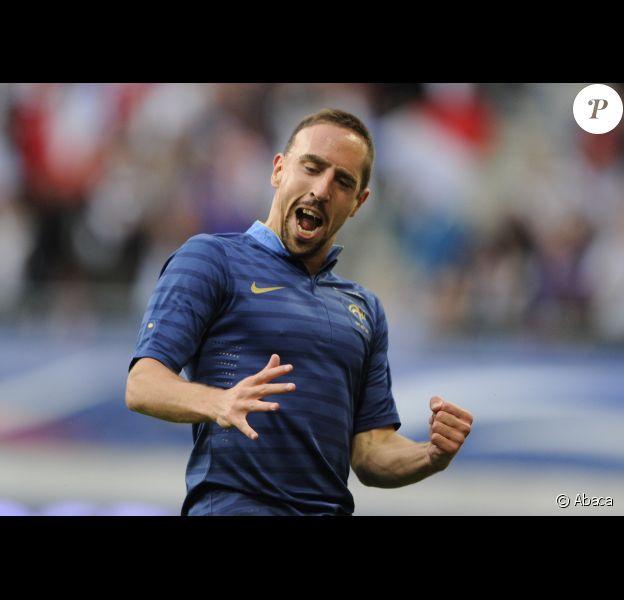 Franck Ribéry lors de la victoire de l'équipe de France face à la Serbie (2-0) le 31 mai 2012 à Reims