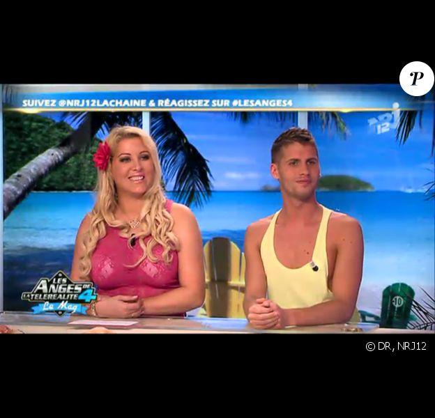 Loana et Benoît sur le plateau des Anges de la télé-réalité 4 - Le Mag le lundi 23 avril 2012 sur NRJ 12