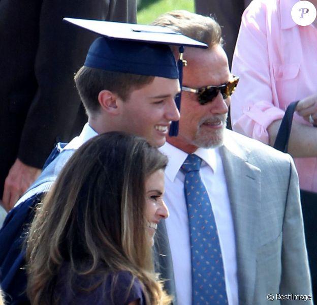 Arnold Schwarzenegger et Maria Shriver réunis pour la remise de diplôme de leur fils Patrick, à Los Angeles, le 1er juin 2012.