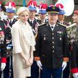 Le prince Albert et la princesse Charlene de Monaco le 13 mai 2012 lors du 54e pélerinage militaire à Lourdes.