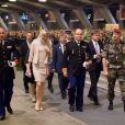 Le prince Albert de Monaco et la princesse Charlene le 13 mai 2012 lors du 54e pélerinage militaire à Lourdes.