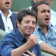Patrick Bruel lors du match entre Jo-Wilfried Tsonga et Novak Djokovic le 5 juin 2012 à Roland-Garros