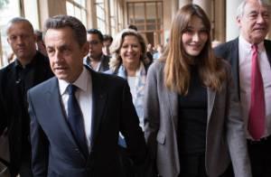 Nicolas Sarkozy et Carla Bruni complices et rayonnants pour aller voter