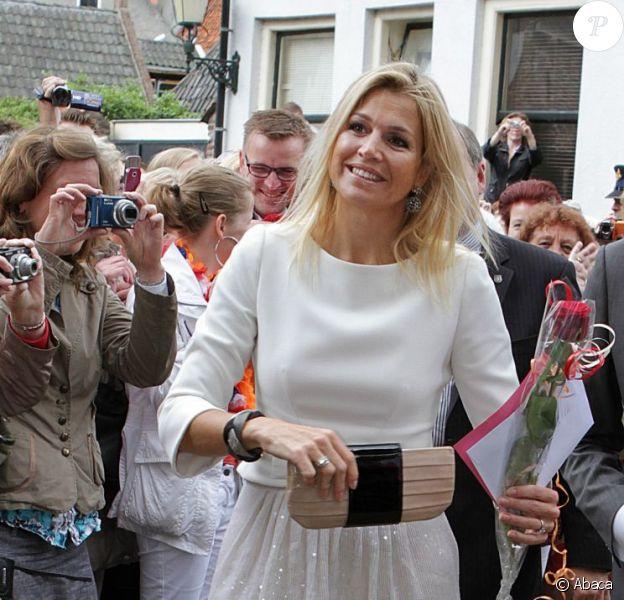 La princesse Maxima des Pays-Bas a inauguré les nouvelles installations du Musée Sjoel d'Elburg le 13 juin 2012.