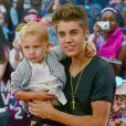 Justin Bieber et son petit frère Jaxon aux MuchMusic Video Awards, à Toronto, le 17 juin 2012.