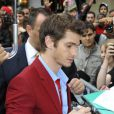 Andrew Garfield lors de l'avant-première de  The Amazing Spider-Man  à Paris, le 20 juin 2012.