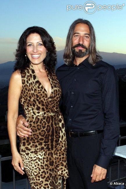 Lisa Edelstein et son compagnon Robert Russell lors d'une soirée à Taormina, en Sicile, le 26 juin 2012
