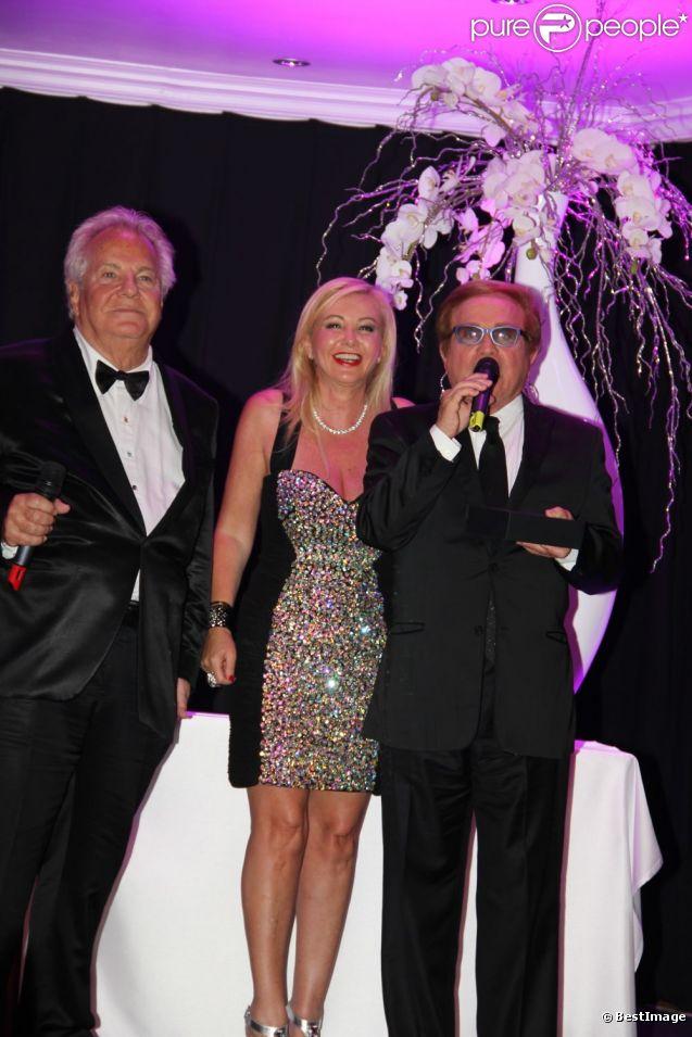 Massimo Gargia, Monika Bacardi et Orlando au dîner de gala organisé au profit du Château de St Cloud, le 26 juin 2012
