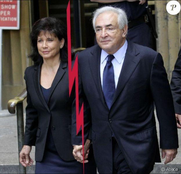 Anne Sinclair et Dominique Strauss-Kahn le 6 juin 2011 à New York