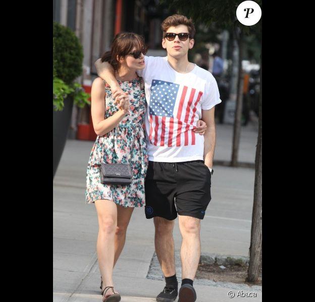 Keira Knightley et son fiancé James Righton à New York le 1er juillet 2012