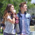 Justin Bieber et Selena Gomez, à Los Angeles, le samedi 30 juin 2012.