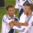 David Beckham fou de rage lors du match des LA Galaxy contre les San Jose Earthquakes, le 30 juin 2012