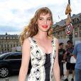 Louise Bourgoin était présente place Vendôme à Paris mardi 3 juillet 2012 pour l'inauguration de la boutique Louis Vuitton Joaillerie au 23, en présence du directeur artistique Lorenz Bäumer.
