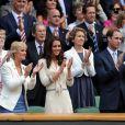 Kate Middleton et le prince William à Wimbledon le 4 juillet 2012.