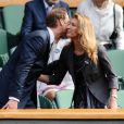 Le prince William avec Steffi Graf à Wimbledon le 4 juillet 2012