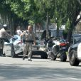 Justin Bieber, arrêté par la police suite à un excès de vitesse, le vendredi 6 juillet 2012 à Los Angeles.