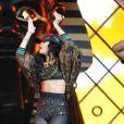 Rihanna sur scène au Wireless Festival, à Londres, le 8 juillet 2012.