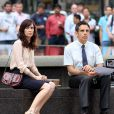 Kristen Wiig et Ben Stiller sur le tournage de  The Secret Life of Walter Mitty , à New York, le 30 mai 2012.
