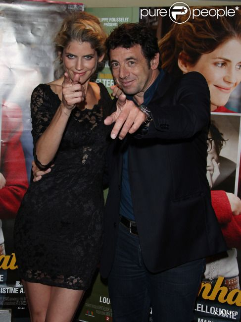 Alice Taglioni et Patrick Bruel lors de l'avant-première du film Paris-Manhattan à Paris le 16 juillet 2012