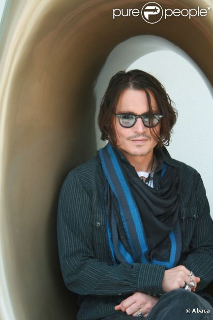 Johnny Depp le 6 mai 2012 pour la promotion de Dark Shadows