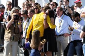 Tour de France : Larmes et émotion pour Bradley Wiggins, sa femme et ses enfants