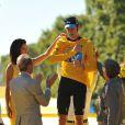 Bradley Wiggins, vainqueur du Tour de France 2012 lors de la dernière étape le dimanche 22 juillet 2012