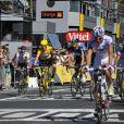 Bradley Wiggins le 22 juillet 2012 sur les Champs Elysée lors de la dernière étape du Tour de France 2012
