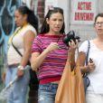 Demi Moore dans les rues de New York avec une amie, le 27 juillet 2012.