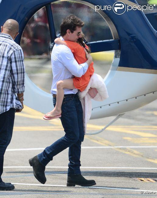 Tom Cruise le 18 juillet 2012 à New York avec sa fille Suri