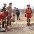 Le prince Felipe d'Espagne en visite le 2 août 2012 à la base de l'Armée de l'air de Moron.