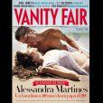 Alessandra Martines enceinte et Cyril Descours en couverture du magazine Vanity Fair italien