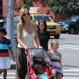 Heidi Klum dans les rues de New York profite de ses enfants lors d'une pause familiale. Le 4 août 2012