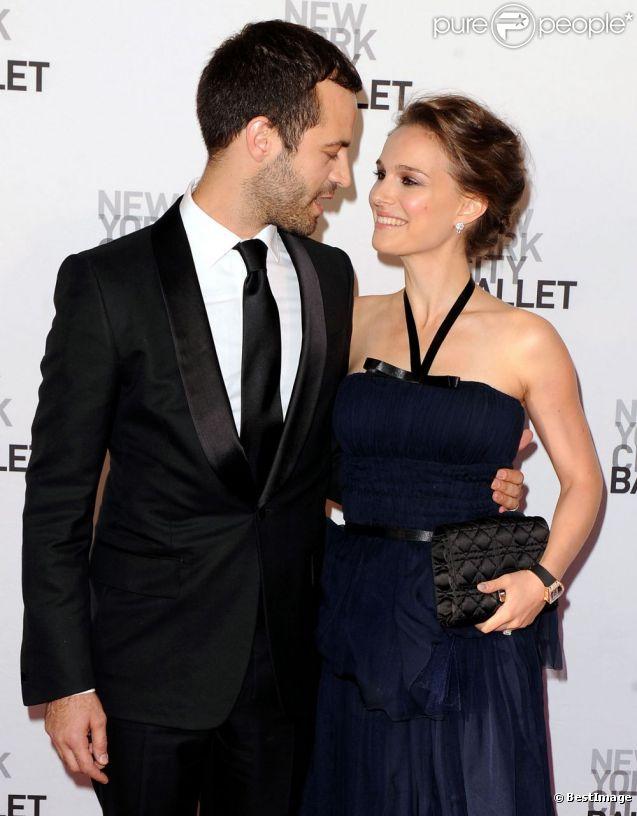 Natalie Portman et Benjamin Millepied en mai 2012 lors d'une soirée du New York City Ballet