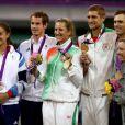 Andy Murray et Laura Robson ont décroché la médaille d'argent en finale du double mixte olympique le 5 août 2012 à Wimbledon à Londres
